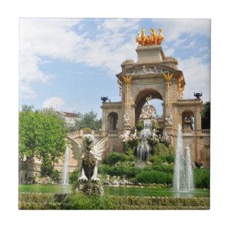 Parc de la Ciutadella in Barcelona Ceramic Tiles
