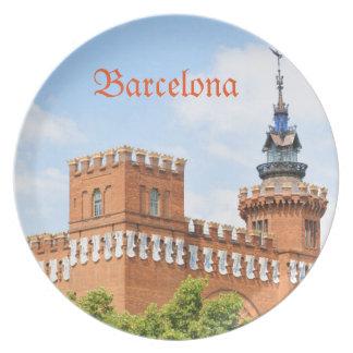 Parc de la Ciutadella in Barcelona Party Plate