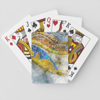 Parc Guell Bench Mosaics in Barcelona Spain Playing Cards