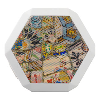 Parc Guell Ceramic Tile in Barcelona Spain White Bluetooth Speaker