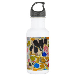 Parc Guell Ceramic Tiles in Barcelona Spain 532 Ml Water Bottle