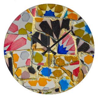 Parc Guell Ceramic Tiles in Barcelona Spain Clocks