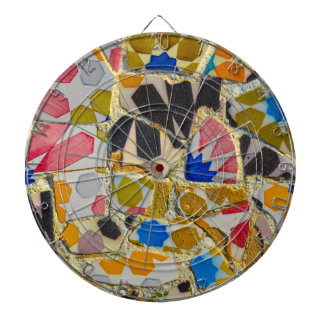 Parc Guell Ceramic Tiles in Barcelona Spain Dartboard