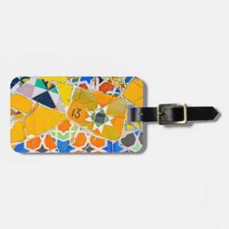Parc Guell Ceramic Tiles in Barcelona Spain Luggage Tag