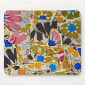 Parc Guell Ceramic Tiles in Barcelona Spain Mouse Pad