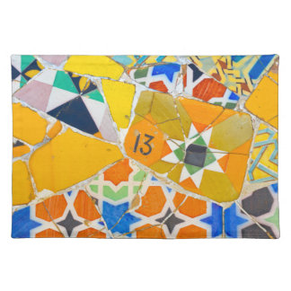 Parc Guell Ceramic Tiles in Barcelona Spain Placemat