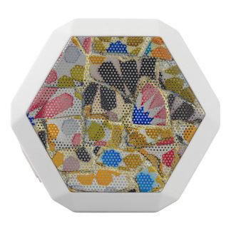 Parc Guell Ceramic Tiles in Barcelona Spain White Bluetooth Speaker