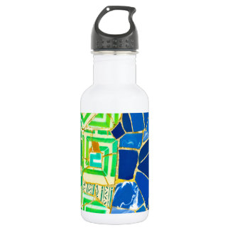Parc Guell Green Tiles in Barcelona Spain 532 Ml Water Bottle
