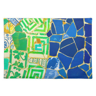 Parc Guell Green Tiles in Barcelona Spain Placemat