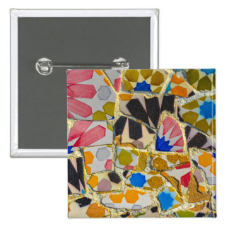 Parc Guell in Barcelona Spain 2 Inch Square Button