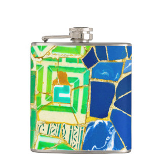 Parc Guell in Barcelona Spain Flasks