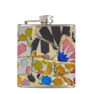 Parc Guell in Barcelona Spain Hip Flask