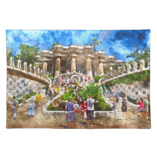 Parc Guell in Barcelona Spain Placemat