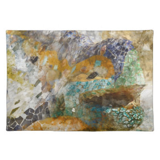 Parc Guell Lizard in Barcelona Spain Placemat