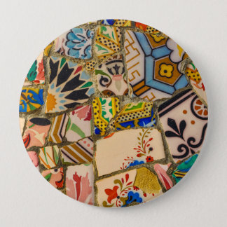 Parc Guell Tiles in Barcelona Spain 4 Inch Round Button