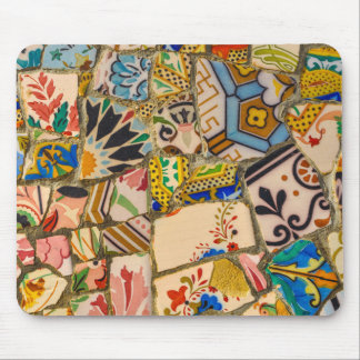 Parc Guell Tiles in Barcelona Spain Mouse Pad