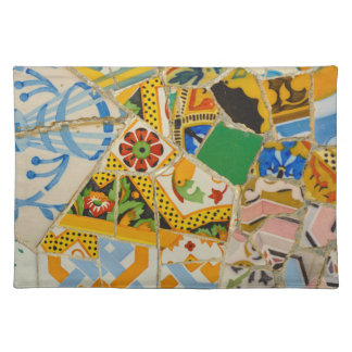 Parc Guell Yellow Ceramic Tiles in Barcelona Spain Placemat
