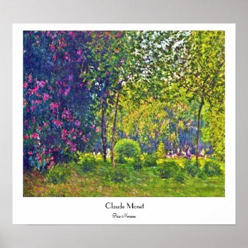 Parc Monceau Claude Monet Poster