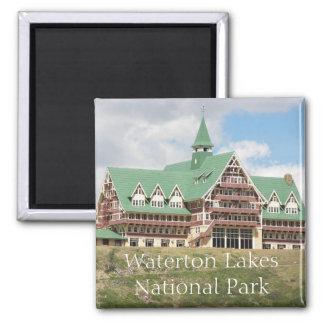Parc national de lacs Waterton Magnet Carré
