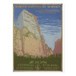 Parc national de Zion Springdale 1938 Utah Carte Postale