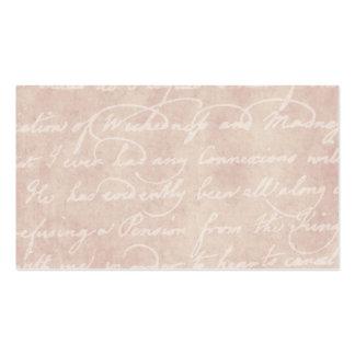 Parchemin antique de papier vintage d'écriture de  cartes de visite personnelles