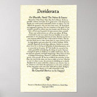 Parchemin des DESIDERATA Poster-Ehrmann-11x17-Chur Poster