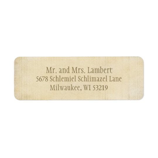 Parchment  Customizable Return Address Label