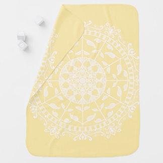 Parchment Mandala Baby Blanket