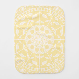 Parchment Mandala Burp Cloth