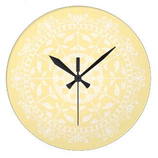 Parchment Mandala Large Clock