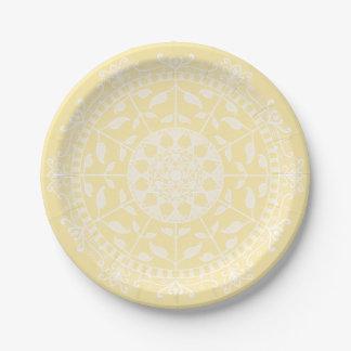 Parchment Mandala Paper Plate