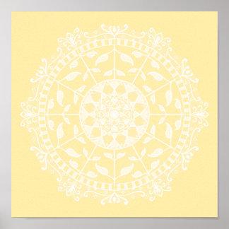 Parchment Mandala Poster