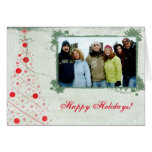 Parchment Merry Christmas Card With Your Photo