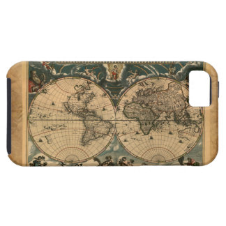 Parchment Old Style World Map iPhone 5 Case