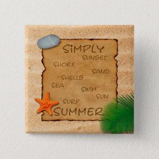 Parchment on Sand Background - Button