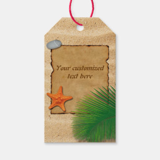 Parchment on Sand Background - Gift Tag