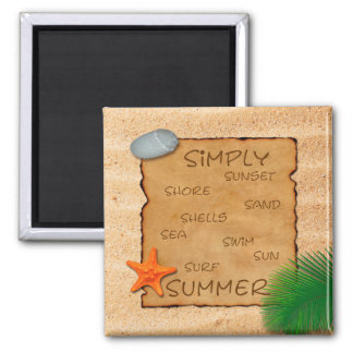 Parchment on Sand Background - Magnet