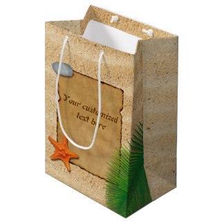 Parchment on Sand Background - Medium Gift Bag