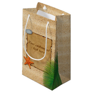 Parchment on Sand Background - Small Gift Bag