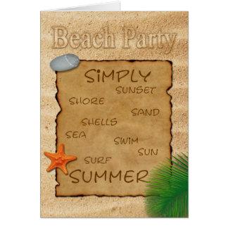 Parchment on Sand - Beach Party Invitation Card