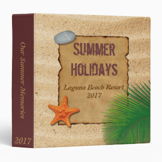 Parchment on Sand - Summer Memories Holiday Binder