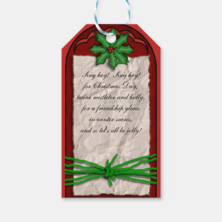Parchment Paper & Holly Gift Tag