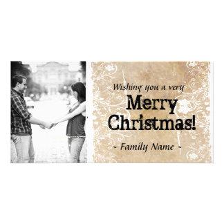 Parchment Photo Christmas Card