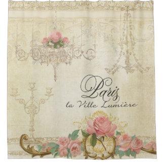 Parchment Romance Roses Paris Parisian Chandelier