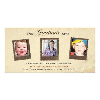 Parchment Snapshots, Graduation Photo Card