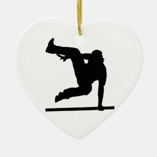 Parcouring Ceramic Heart Ornament
