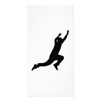 Parcouring jump photo card