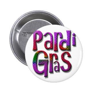 Pardi Gras 2 Inch Round Button