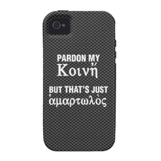 Pardon my Koine But That's Just Sinful iPhone 4 Cases