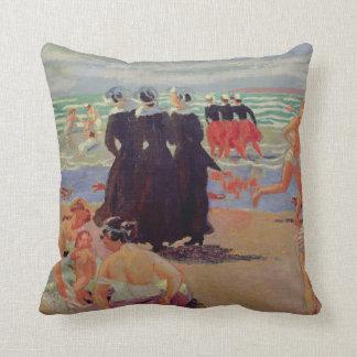Pardon of Sainte-Anne-la-Palud Throw Pillow